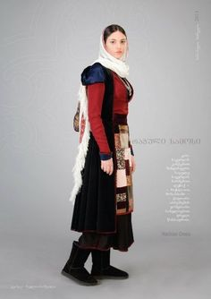 Georgische traditionelle Kleidung. ქართული ხალხური სამოსელი. Traditional Georgian Clothes, Costumes