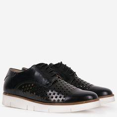 Pantofi Oxford din piele naturala negri Joely Stella Mccartney Elyse, Wedges, Sneakers, Casual, Shoes, Fashion, Tennis, Moda, Slippers