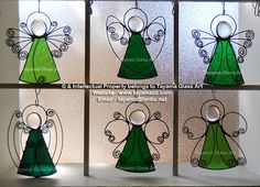Angels - Green Stained Glass https://www.facebook.com/groups/TayamaCrafts/