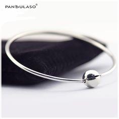 Original 925 Silver Essence Bracelet With Round Clasp 2016 New Starter Bracelets for Women DIY Essence Charms Beads Jewelry