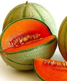 Cantaloupes are full of anti-oxidants and beta-carotene.