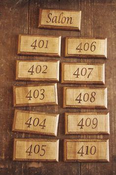 アンティークスタイルの木製ドアプレート 木製ドア ドアプレート