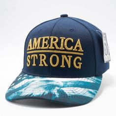 8425bd091c7 Shop Pit Bull Exclusive Design Snapback Faded US Flag Printed Custom Brim  Navy Crown with Amercia Strong Metalic Gold Embroidery Hats Caps Wholesale