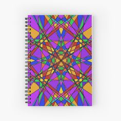 """""""Geometric Stain Glass Star"""" Spiral Notebook by Pultzar 