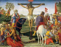 Benvenuto di Giovanni - Storie della Passione: Crocifissione - c. 1491 - tempera su tavola - National Gallery of Art, Washington