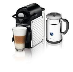 Nespresso Pixie Espresso Maker with Aeroccino Plus Milk Frother, Chrome – Coffee Makers Café Espresso, Espresso Maker, Espresso Kitchen, Italian Espresso, Starbucks, Best Coffee Maker, Coffee Shop, Coffee Accessories, Tech Accessories