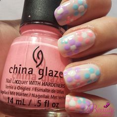 flower nail art China Glaze