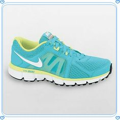 d94e5caa45bc Nike Dual Fusion ST 2 Womens Running Shoes Pool Blue Lime All Size in  Clothing