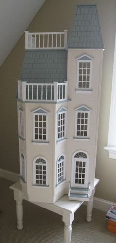 Real Good Toys Playscale VictorianTownhouse Barbie Sized Dollhouse and Turn Table