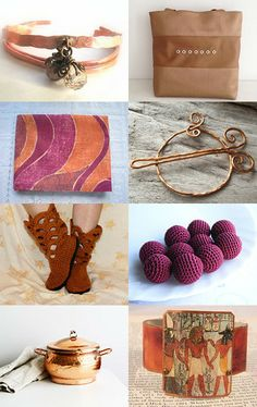 Copper and Wine Combo by Virginia Soskin on Etsy--Pinned with TreasuryPin.com