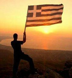 Greek Flag South Cyprus, Greek Flag, Greek Beauty, Greek Culture, Simple Minds, Ancient Greece, Greek Islands, Crete, Olympia