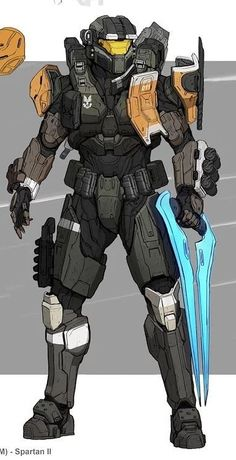 Robot Concept Art, Armor Concept, Weapon Concept Art, Game Character Design, Character Art, Halo Cosplay, Halo Spartan, Halo Armor, Halo Series