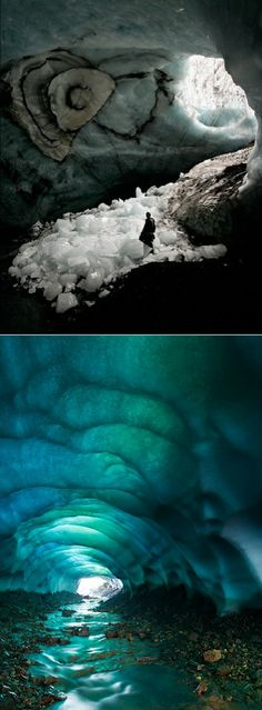 Crikey, nature never ceases to amaze me! (this crystal ice cave is hidden in the Skaftafell national park in Iceland)