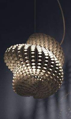lampshade 3d printed by studioluminaire.com.Join the 3D Printing Conversation: http://www.fuelyourproductdesign.com/