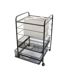Design Ideas File Storage Cart, Black Scrapbook Organization, Storage Organization, Organizing, Storage Cart, Storage Drawers, Kitchen Rack, Kitchen Storage, Hanging Files, Drawer Unit