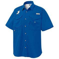 Kasey Kahne Columbia Bonehead PFG Fishing Button-Up Shirt - Royal - $48.99