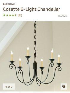 Cosette 6 light chandelier zinc