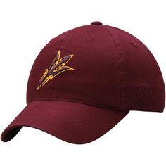san francisco c6236 b766d Men s Top of the World Maroon Arizona State Sun Devils Relaxer 1Fit Flex Hat