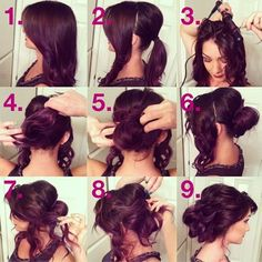 Beautiful and easy- so you don't have to curl all of your hair to get the look.