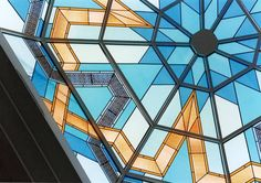 Stained glass dome details by France Vitrail International, installed in Jeddah. More pictures on our website dedicated to stained glass cupolas & domes (link in Bio)