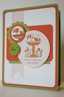 The Pursuit of Stampin'ess: For the birds friendship card by Stampin Up and me