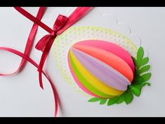 How to Make - Easter Egg Spring Decoration - Step by Step Easy Easter Crafts, Diy Crafts, 3d Paper Snowflakes, Making Easter Eggs, Egg Card, Easter Greeting Cards, Craft Activities For Kids, Diy Birthday, Happy Easter