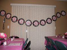 pink zebra shower ideas | kreations by Kristen: Black, White and Pink Zebra Print Baby Shower