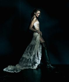 "Kristina Krivomazova in ""Chrome Hearts"" by Toshio Onda for ELLE Japan,February 2014"