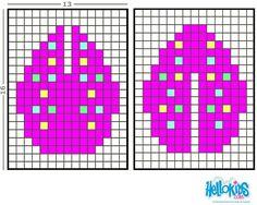 3D Easter Egg Perler Pattern