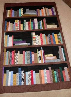 OMG I LOVE THIS Book Shelf Quilt