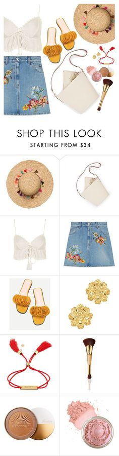 """""""Summertime Madness: HEAT WAVE"""" by silverheartwood ❤ liked on Polyvore featuring Topshop, Gucci, WithChic, London Road, Chloé, tarte and Guerlain"""