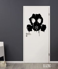 Dorm Room!  Dripping Gas Mask Wall Decal by Blazing Vault by BlazingVault