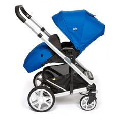 Joie Chrome Plus Pushchair Silver Chassis and Colour Pack with Cupholder - Electric Blue