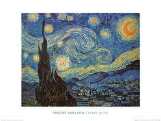 Tähtitaivas Posters tekijänä Vincent van Gogh AllPosters.fi-sivustossa