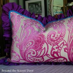 Pink and Orange Paisley Combination for Girl's Bedroom | Beyond the Screen Door