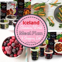 7 Day Slimming World Meal Plan with Iceland. Low cost Slimming World meal plan using Slimming World Iceland meals and products. Iceland Slimming World Meals, Slimming World Free Foods, Sw Meals, Easy To Cook Meals, Beans On Toast, Pink Foods, Sweet Chilli, How To Cook Chicken, Meal Planning
