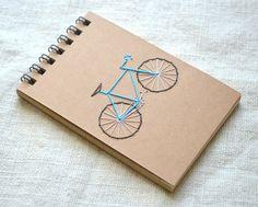 Mini blocco note in bicicletta  Spiral Notebook di Reporter