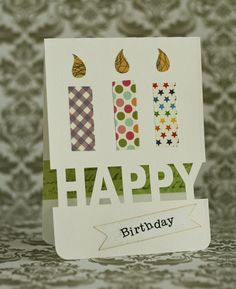 Happy Birthday! I made this card for my MIL's birthday, when I realized I had no home-made birthday cards left. And I really wanted…