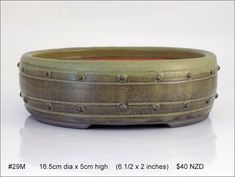 Quality stoneware medium bonsai pots for sale in New Zealand. Kiwi, Stoneware, Pots, Pottery, Medium, Garden, Vases, Container Plants, Ceramica