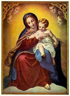 19th century German Madonna and child