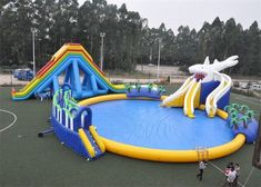 Commercial amusement park summer large inflatable water slide for sale Email: a - Sales Email - Ideas of Sales Email - Commercial amusement park summer large inflatable water slide for sale Email: anne. Inflatable Obstacle Course, Inflatable Water Park, Giant Inflatable, Outdoor Summer Activities, Outdoor Fun, Backyard Water Parks, Bounce House Birthday, Lake Toys, Cool Pool Floats