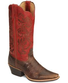 Twisted X Fancy Embroidered Cowgirl Boots - Snip Toe