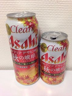 ASAHI Clear Asahi  2016 Fall AKi Japanese beer can top opened 350ML 500ML empty