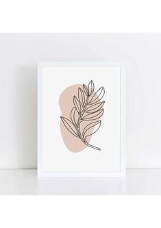 Abstract – The Little Jones Scandi Home, Personalised Prints, Wooden Decor, Nature Prints, Kids Prints, Leaf Shapes, Paper Goods, All Print, Giclee Print