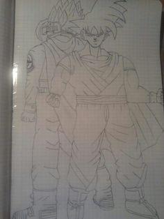 Personaggio Misterioso e Goku parte 1 ♡