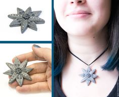 """Купить Кулон """"Звезда"""" - серебряный, восьмиконечная звезда, украшение кулон, авторская ручная работа"""