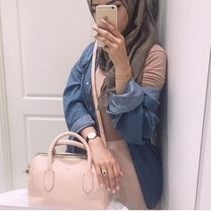 """Baby pink 🌸🌸🌸 watch from - use my discount code """"ROLLA"""" for off (until May)🎉 Muslim Fashion, Modest Fashion, New Fashion, Dubai Fashion, Hijab Fashionista, Islamic Girl, Casual Hijab Outfit, Islamic Clothing, Latest Outfits"""