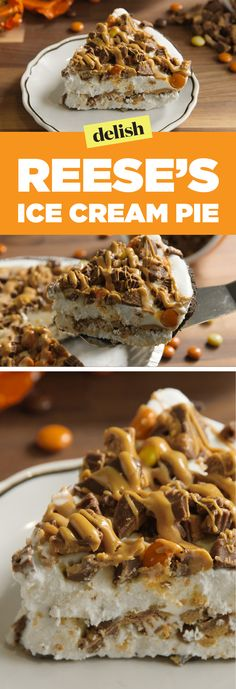 Reese's Ice Cream Pie Is Peak Peanut Butter & Chocolate Logo Ice Cream, Ice Cream Pies, Ice Cream Treats, Ice Cream Desserts, Frozen Desserts, Icebox Desserts, Frozen Treats, Ice Cream Party, Snickers Torte