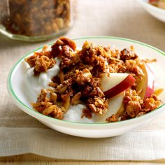 Grain-Free Apple Pie Granola Recipe -Because of food allergies, I've learned to swap ingredients. There are no grains in this granola but loads of nuts and apples. Try it with yogurt or milk. —Courtney Stultz, Weir, Kansas