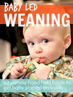 Baby led weaning with lots of yummy hand held foods is the best way to prevent your child become a picky eater later on ... Baby Finger Foods, Toddler Food, Toddler Meals, Kids Meals, Picky Eaters, Food Introduction Baby, Baby Led Weaning First Foods, Baby First Foods, Baby Lef Weaning